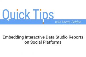 Embedding Interactive Data Studio Reports on Social Platforms