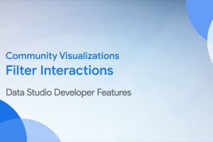 Community Visualizations: Filter interactions