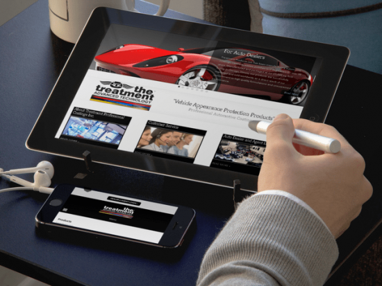 The Treatment Vehicle Paint Protection Mobile Friendly Website Design  The Treatment needed a mobile-friendly, e-commerce website designed with the ability of wholesalers to collaborate, see special pricing, and list their dealerships on the Treatment Installer Geo Locator.