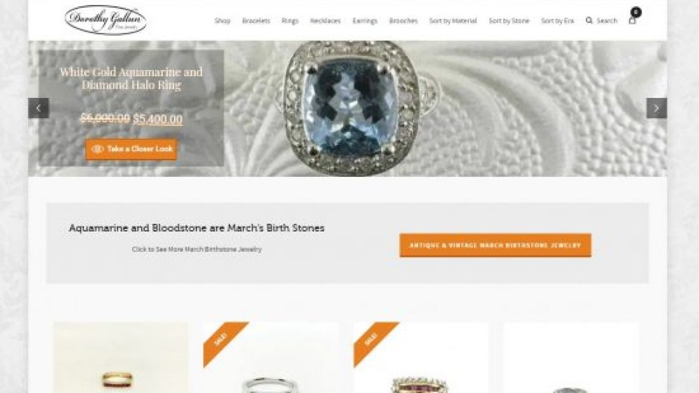 Dorothy Gallun Fine Jewelry E-Commerce Website Design & SEO