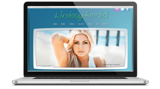 Lindsay Arnold Website Design  Having worked successfully with Brian Bateman on 3 websites & social media marketing, Alexis Bellino recommended that the agency representing Lindsay Arnold reach out to Brian when they were considering a new website. Brian created a design that Lindsay agreed, reflected her music and personality while successfully projecting a certain glamour & celebrity.