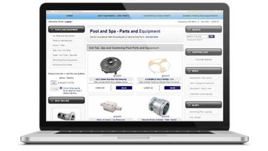 Pools Contractor Shifting to Wholesale E-Commerce, National Organic SEO, Data Analysis  A local swimming pool contractor asked Brian Bateman of DOYJO to help them transition from a construction contractor to a wholesale provider of swimming pool and hot tub parts.