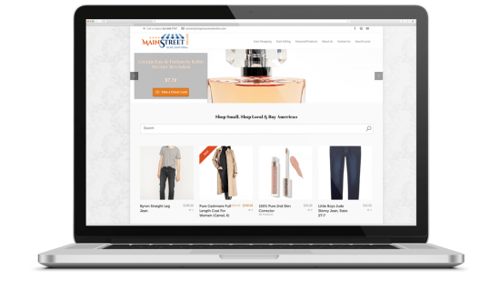 Shop Main Street Online Multi-Seller E-Commerce Platform Development Shop Main Street Online is a Shop Local / Buy American multi-seller marketplace. American businesses can sign up and sell their products on Shop Main Street Online and visitors are able to support American businesses and American made products.